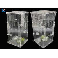 Buy cheap Transparent Acrylic Modern Furniture Pet Breeding Box Plexiglass Reptile Cages product