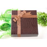 Buy cheap Brown Polyester Gift Packing Ribbon For Box Raised Logo 25cm Width Durable from wholesalers
