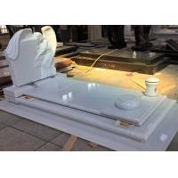 Buy cheap White Pearl Monument Grave Markers , Marble Sketch Simple Headstones For Graves from wholesalers