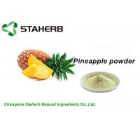 Buy cheap 100% Natural Freeze Dried Pineapple Extract Powder Fit Food Grade Beverage from wholesalers