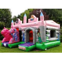 Buy cheap PVC Pink Dragon Cartoon Princess Combo Inflatable Bounce House With Roof Kids Play from wholesalers