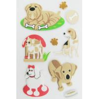 Buy cheap Cute puppy 3D Animal Puffy Stickers / Kids room decoration stickers from wholesalers
