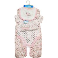 Buy cheap Plain Style Baby Girl Clothing Sets Baby Wear Product Type 5pc Newborn Clothing from wholesalers