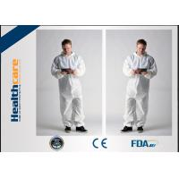 Buy cheap Hooded Disposable Boiler SuitsWaterproof Overalls Non Woven 15gram -60gram from wholesalers