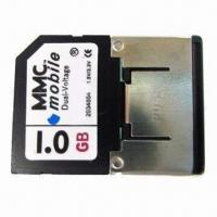Buy cheap MMC/Mobile Card, 1.8 and 3.3V Dual-voltage and 7Mbps Reading Speed for Mobile Phones product