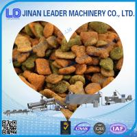 Buy cheap 120-150 KG / H Stainless Steel Pet Food Processing Line , 380V Animal Feed Extrusion Machinery from wholesalers