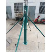 Buy cheap 12 meter telescopic mast hand winch mast for light tower CCTV monitor pole light weight tower antenna mast from wholesalers