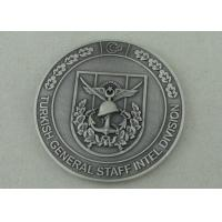 Buy cheap Zinc Alloy Personalized Coins For Turkish General Staff Intel Division With Antique Silver Plating from wholesalers