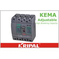 Buy cheap 160A Double Molded Case Circuit Breaker / Four Pole Adjustable Circuit Breaker from wholesalers