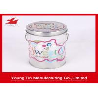 Buy cheap Color Printed Empty Cylinder Round Gift PET Tin Boxes Sweets Packaging Handle Attached from wholesalers