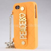 Buy cheap PEACE Handbag With Chain Hold Silicone Case For iPhone 4 4s from wholesalers