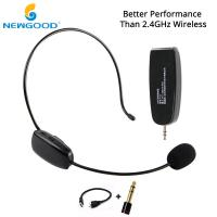 Buy cheap NEWGOOD UHF Headset Stereo Nature Sound Voice Amplification Wireless Microphone Megaphone with Dual USB Charge Cable from wholesalers