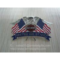 Buy cheap Enamel national flag lapel pin, American flag and eagle emblem lapel pin butterfly clutch, from wholesalers