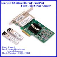 Buy cheap 1G quad ports fiber optical network card server application network adapter from wholesalers