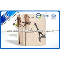 Buy cheap Canvas Cover Diary Notebook For Girls / Kraft Paper blank paper notebook from wholesalers