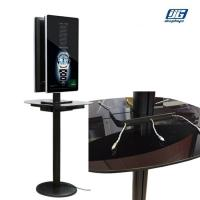Buy cheap Aluminum frame,Black color, double sided 32''  LCD screen,6 wire charger port, mobile phone charging station from wholesalers