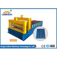 Buy cheap New 6500 mm long color steel glazed tile roll forming machine PLC control automatic made in china from wholesalers
