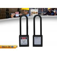 Buy cheap 76mm Long Shackle Safety Lockout Padlocks Non-Conductive Nylon ABS Body from wholesalers
