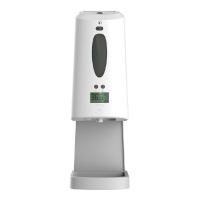 Buy cheap Wall Mounted Temp Test 1300ml Hand Sanitizer Dispenser from wholesalers