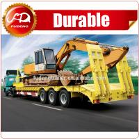 Buy cheap Widely Used Heavy Duty 3 Axles 60-100ton Low Bed Truck Semi Trailer For Sale from wholesalers