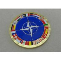 Buy cheap 2.0 Inch ISAF Personalized Coins , Coin Box Packing , Brass Punched With Soft Enamel from wholesalers