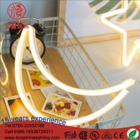 Buy cheap LED 4.5V flex neon sign Half Moon wall night light for kid bedroom decoration from wholesalers