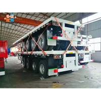 Buy cheap Flat Deck Heavy Loading 4 Axles 60t Container Semi Trailer from wholesalers