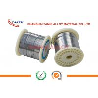 Buy cheap NiCr8020 Bright Flat Nicr Alloy Wire 0.15mm Width For Sealing Machine / Pit Furnace from wholesalers