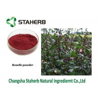 Buy cheap Roselle Powder Pure Natural Plant Extracts , Hibiscus Sabdariffa Extract Contain Anthocyanidins Schisandrins from wholesalers