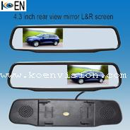 Buy cheap Left or Right Screen Clip-on Car Rear View Mirror KC0443 from wholesalers