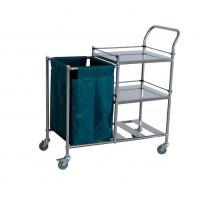 Buy cheap Three Shelves Laundry Collecting Trolley With S.S. Guardrails from wholesalers