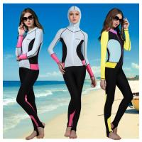 Buy cheap lycra nylon women scuba suit swim wear full suit rash guard UPF50+ on sale from wholesalers