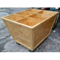 Buy cheap Custom Wooden Supermarket Rice Storage Wooden Display Rack / Rice Holder Container For Store from wholesalers
