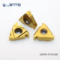 Buy cheap Cemented Carbide Indexable Threading Inserts , Thread Turning Tools 22ER6 STACME from wholesalers