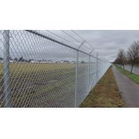 Buy cheap 4mm PVC Coated Galvanized Chain Link Fence System Airport Fence 3m High from wholesalers