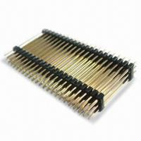 Buy cheap 2..54mm Pitch Triple Rows Pin Header in Straight Type, Measuring 2.54 x 7.5mm from wholesalers