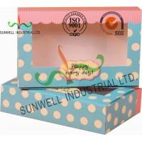 Buy cheap UV Coating Paper Egg Tart Take Away Food Packaging Boxes Gold Stamping from wholesalers