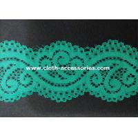 Buy cheap Embroidery Mint Green Nylon Lace Fabric Dress Double Sided With Customer Logo from wholesalers