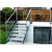 Buy cheap Building Stainless Steel Glass Stair Rails And Banisters Modern Design from wholesalers
