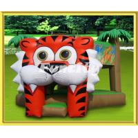 Buy cheap Kids Outdoor Inflatable Jumping Castle , Huge Tiger Jungle Inflatable Bouncy Castle from wholesalers