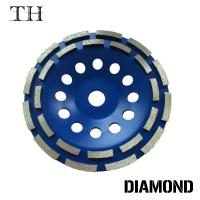 Buy cheap Chinese double row Diamond grinding cup wheels for concrete, cup grinding wheel from wholesalers