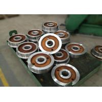 Buy cheap Forged polished double rim wheel for rail cart on steel rails with 800mm from wholesalers