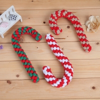 Buy cheap OEM Plush Rope Candy Cane Dog Toy from wholesalers