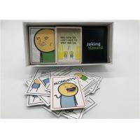 Buy cheap 360pcs Joking Hazard Card Games For Large Groups Portable Laminated Type product