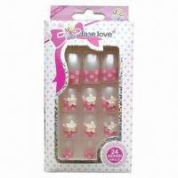 Buy cheap 24 pieces per glued nail tips, made of 100% ABS from wholesalers