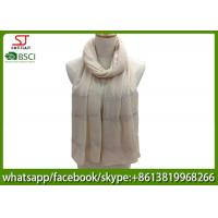 Buy cheap China supplier stripe silver shawl gilding spring summer pink scarf  70*180cm 20%Cotton 80%Polyester keep warm from wholesalers