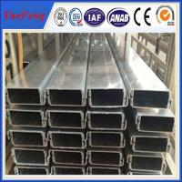 Buy cheap Aluminium rectangular tube for ceiling decoration, Aluminium heatsink housing extrusions from wholesalers