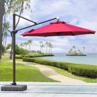 Buy cheap Beer Starbucks Outdoor Garden Patio Umbrella With Red Crank Handle Led Light product
