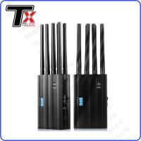 Buy cheap Cell Phone Portable Cell Phone Signal Jammer Handheld 8 Antenna For GSM / 3G / 4G from wholesalers