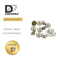 Buy cheap Fashion Round Denim Jacket Buttons Silver & Brass Rivet For Garments from wholesalers
